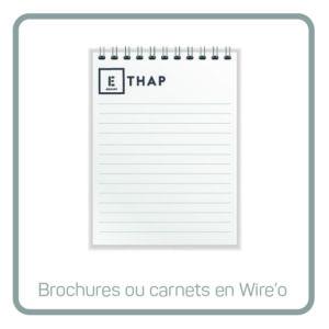 ETHAP Picto wire'o carnet spirale Lille Douai Imprimerie Signalétique Routage